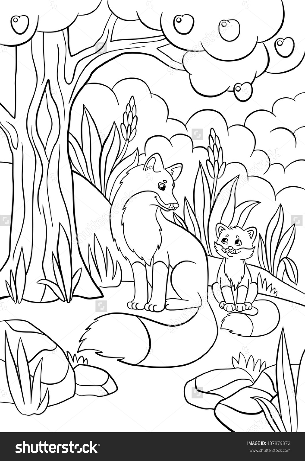 Baby Fox Coloring Pages At Getcolorings