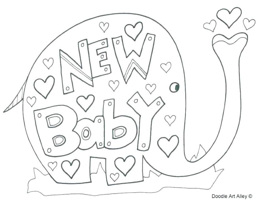 baby shower coloring pages for kids at getcolorings