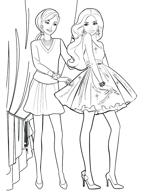 Barbie And Friends Coloring Pages at GetColorings.com