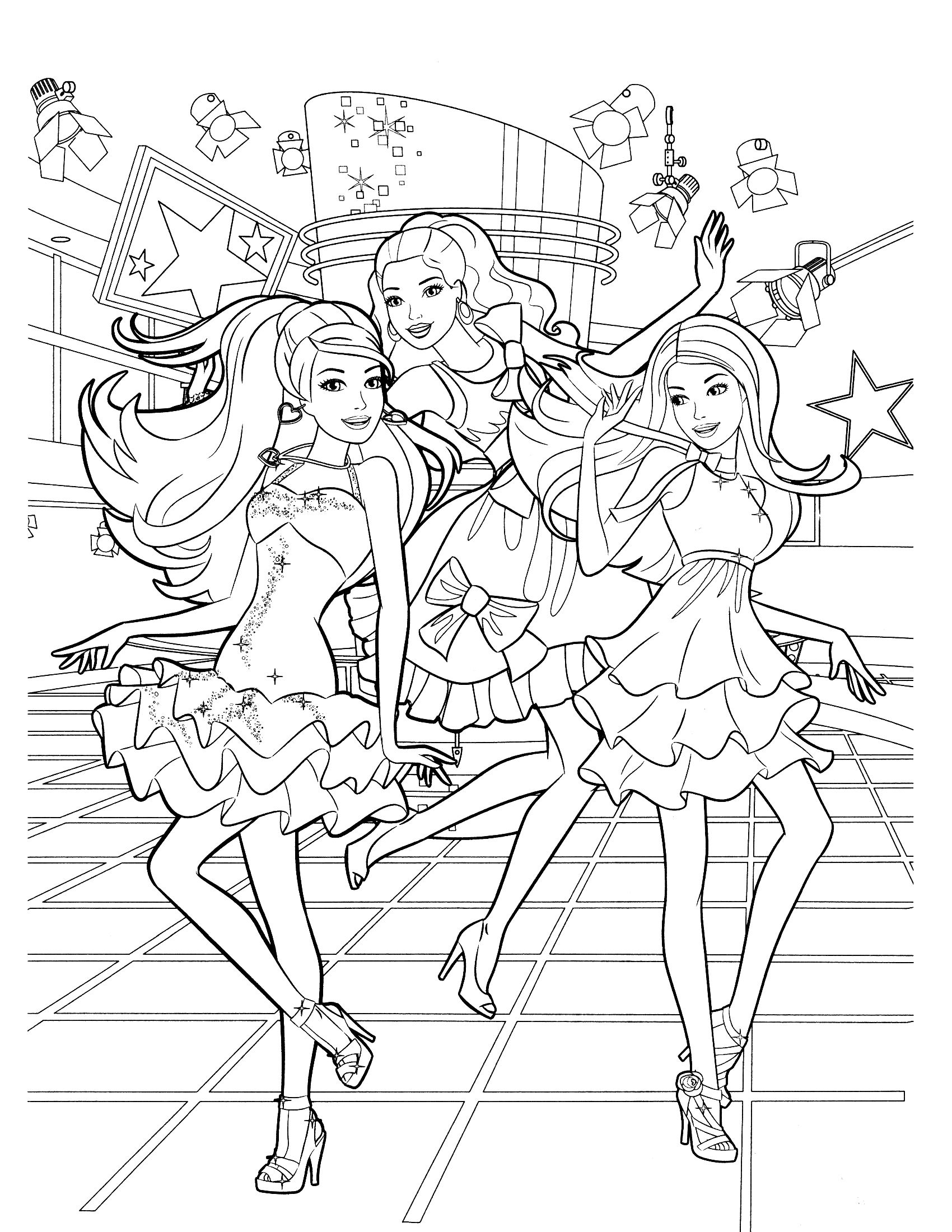 Barbie Birthday Coloring Pages At Getcolorings