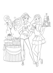 barbie coloring pages dream printable getcolorings princess charm print