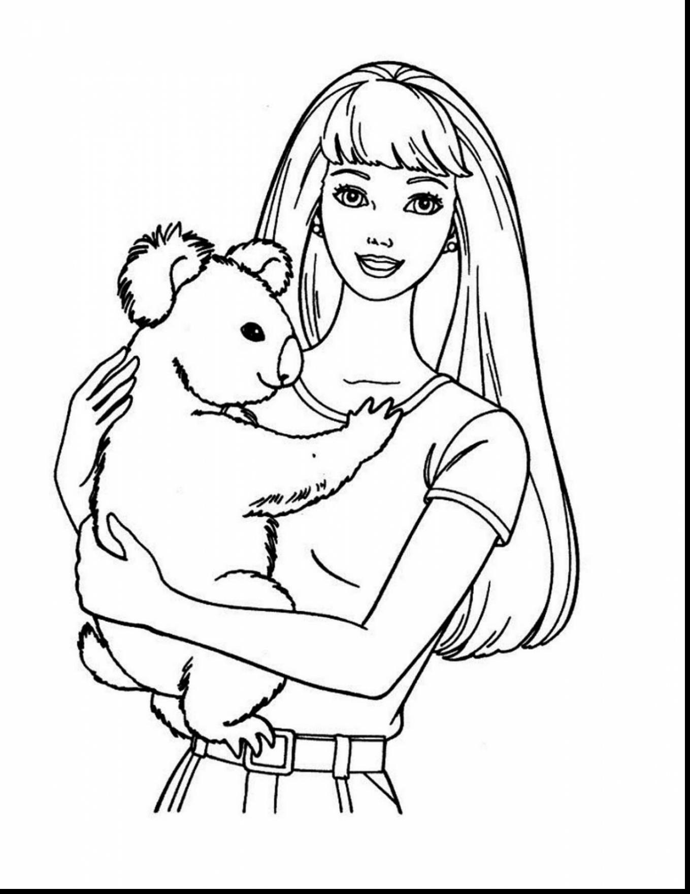 Barbie Life In The Dreamhouse Coloring Pages At
