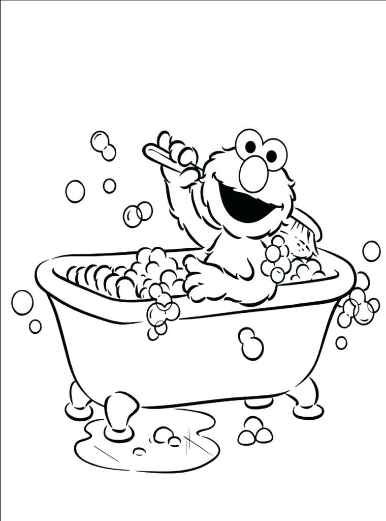 Curious George In Bathtub Coloring Page