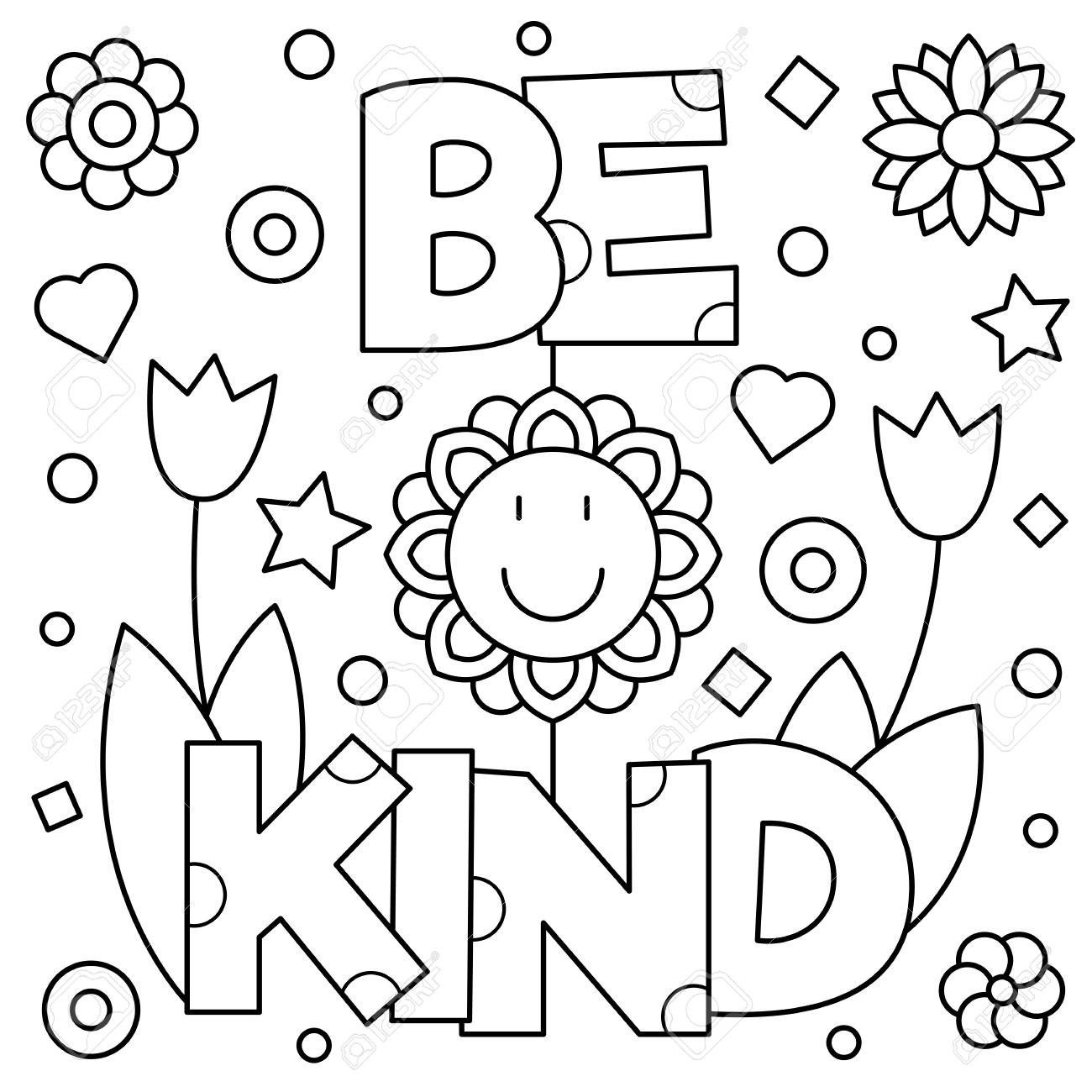 Be Kind Coloring Page At Getcolorings