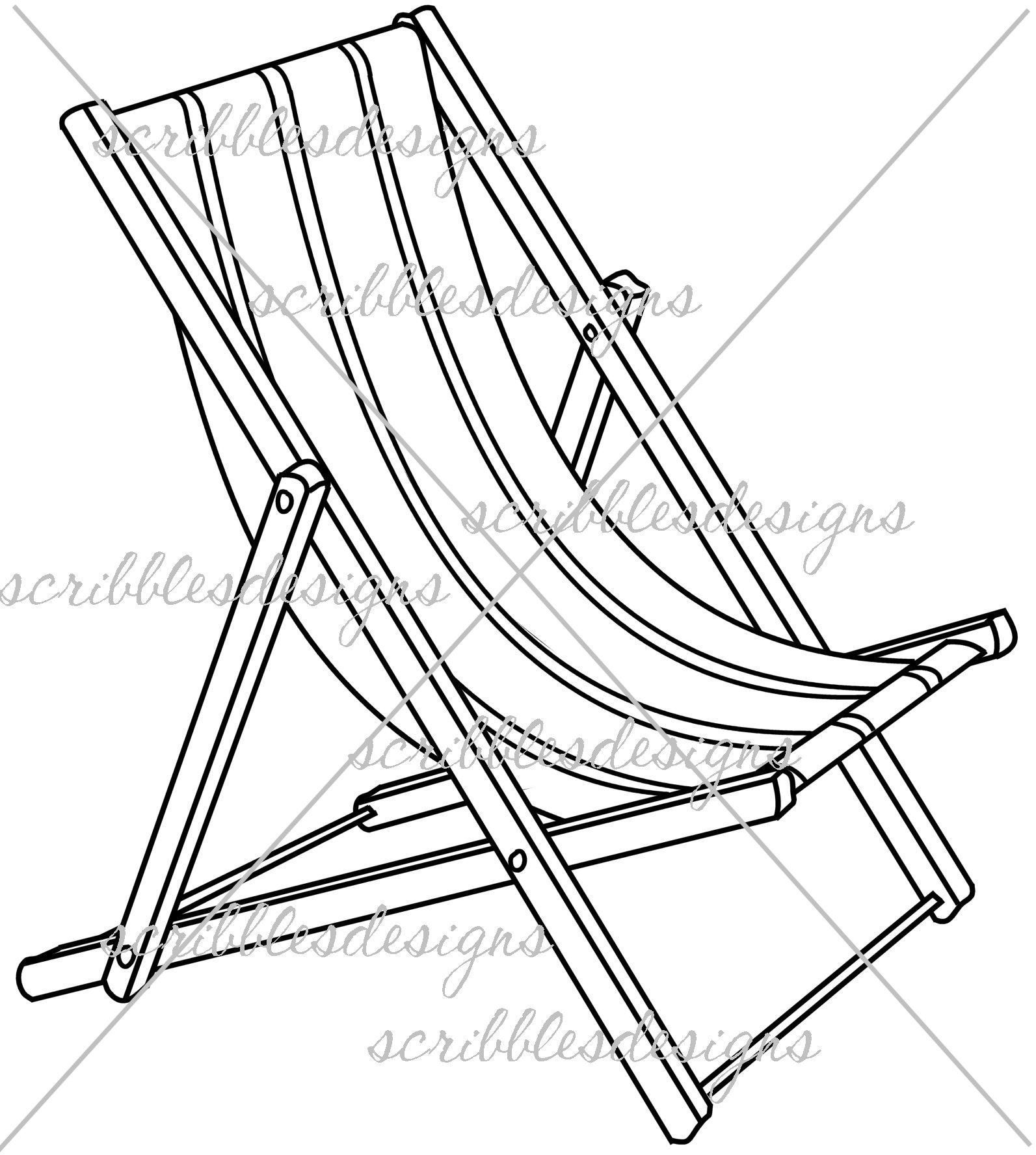 Beach Chair Coloring Page At Getcolorings