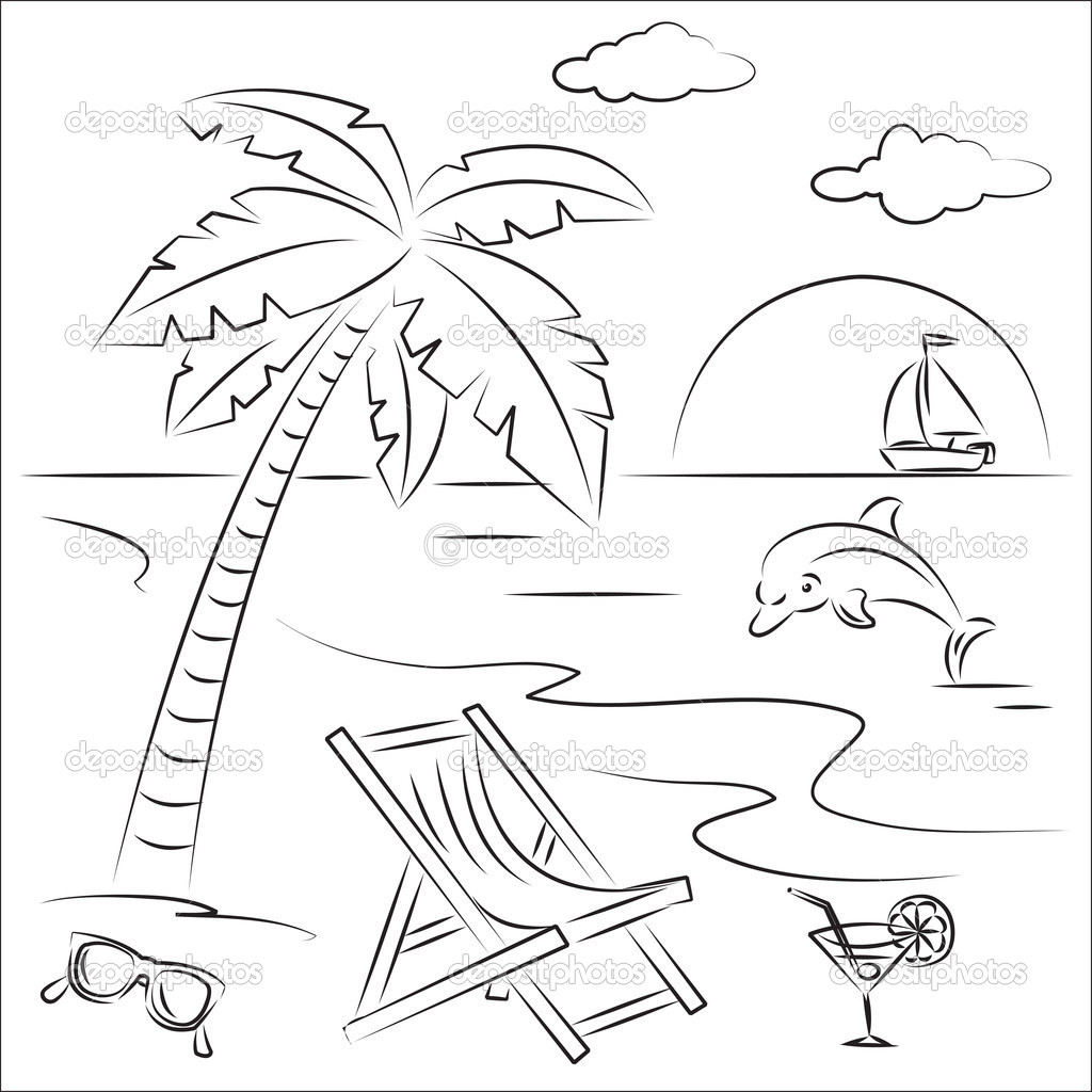 Beach Theme Coloring Pages At Getcolorings