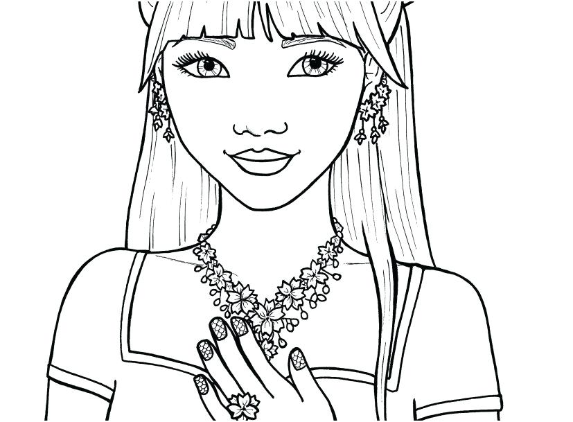 Beach Babe Coloring Page
