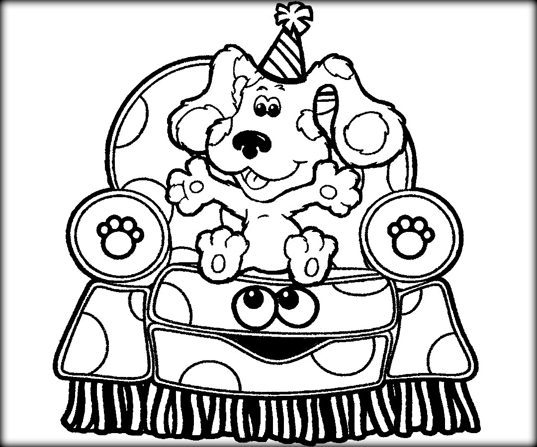 Blues Clues Coloring Pages To Print At Getcolorings