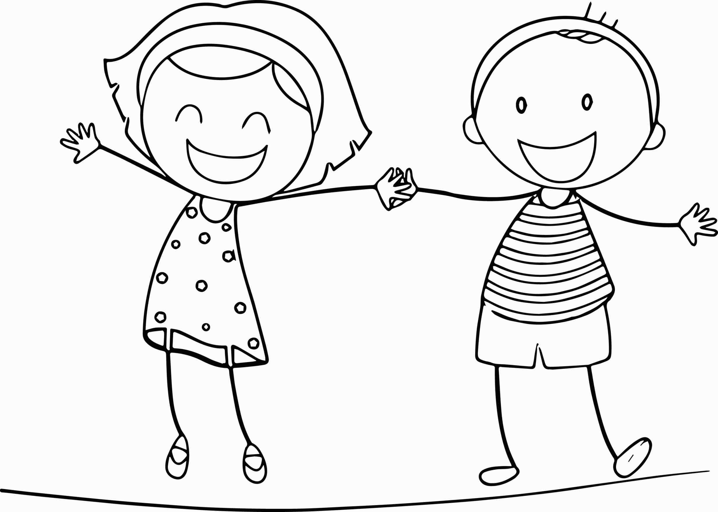 Boy And Girl Holding Hands Coloring Pages At Getcolorings