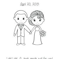 Bride Groom Coloring Page at GetColorings.com   Free ...