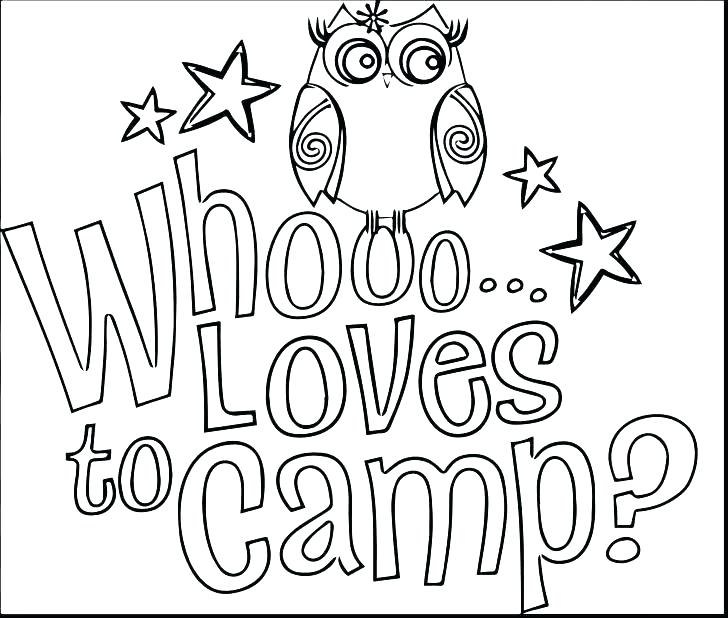 Camping Coloring Pages For Preschoolers at GetColorings