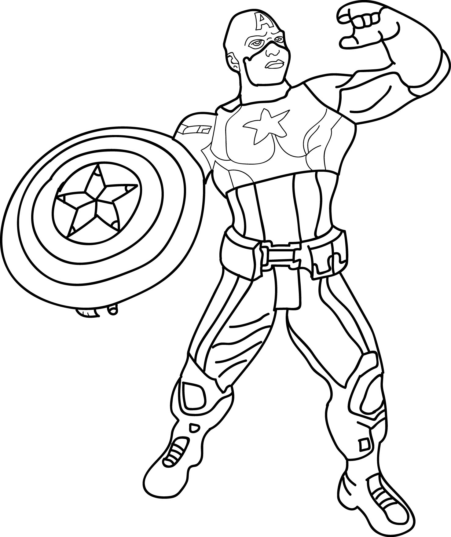 Captain America Lego Coloring Pages At Getcolorings