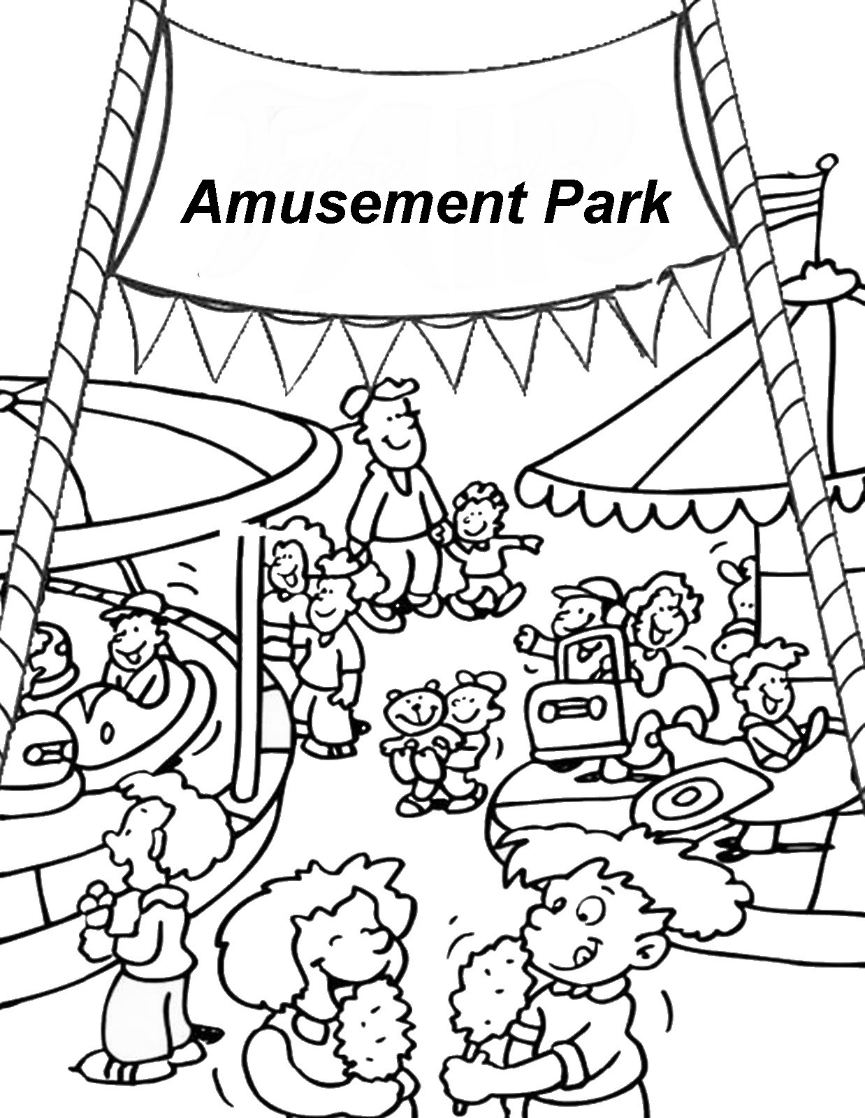 Carnival Food Coloring Pages At Getcolorings