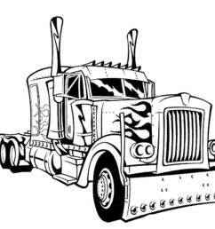 2500x1783 semi truck coloring pages [ 2500 x 1783 Pixel ]