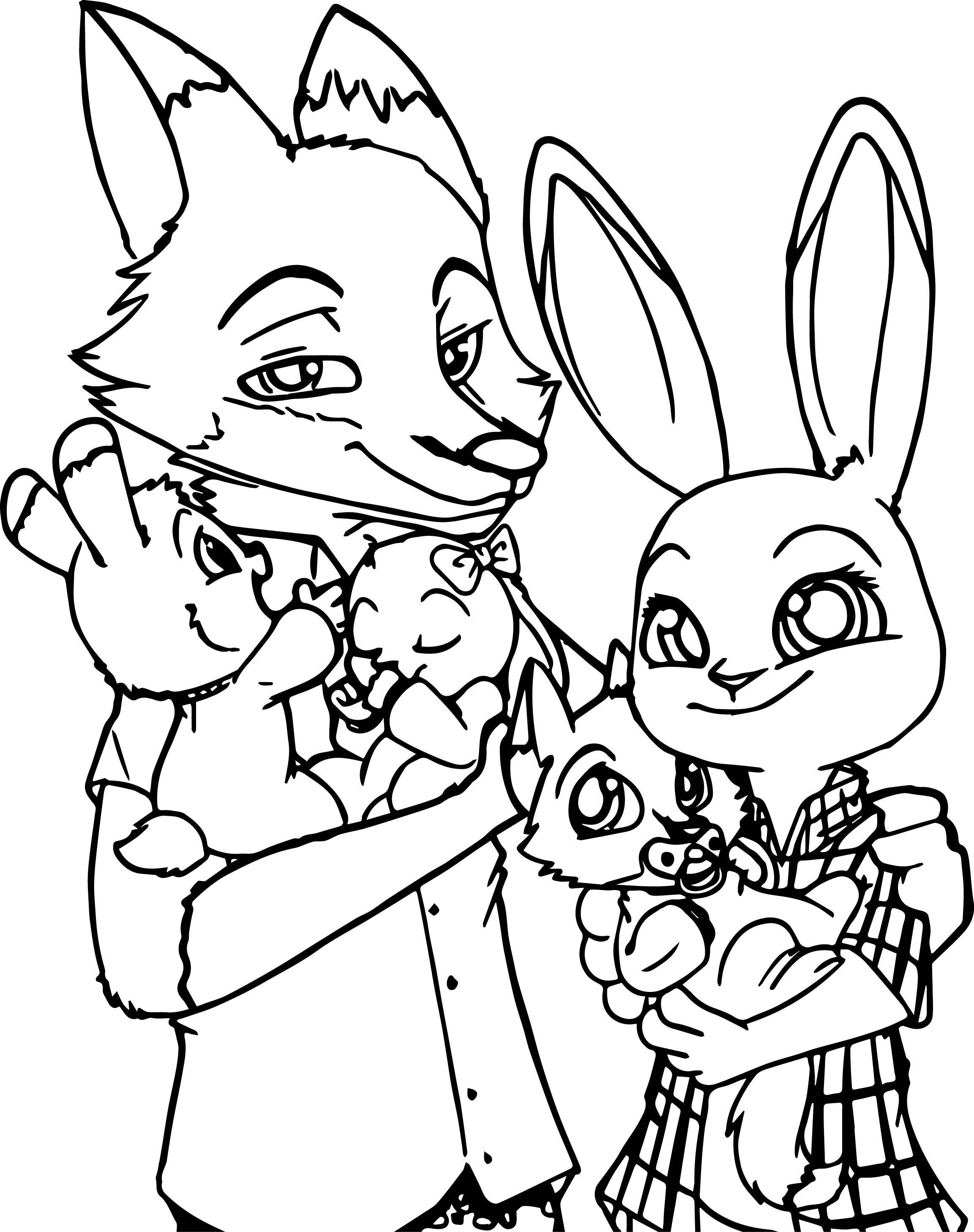 Cartoon Fox Coloring Pages At Getcolorings