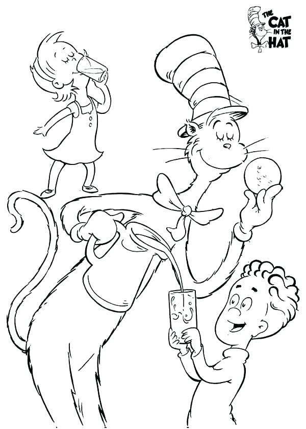 Cat In The Hat Coloring Pages To Print at GetColorings.com