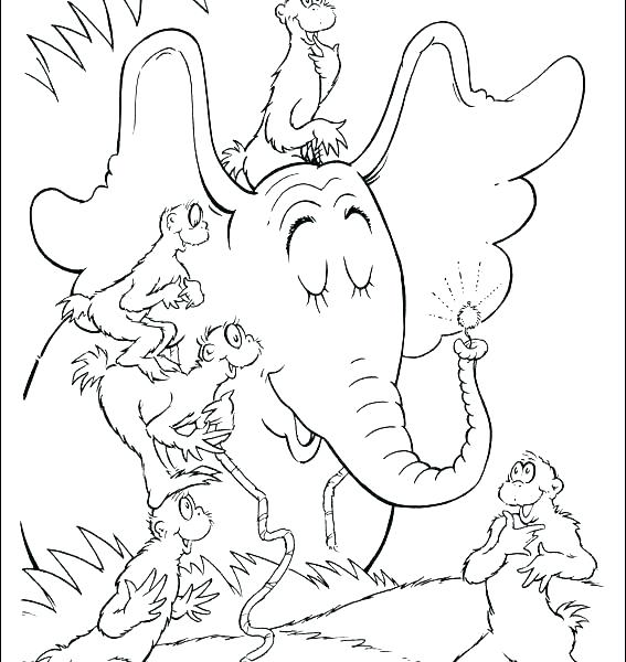 Cat In The Hat Fish Coloring Pages at GetColorings.com