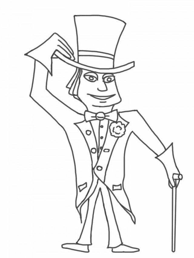 Charlie And The Chocolate Factory Coloring Pages at