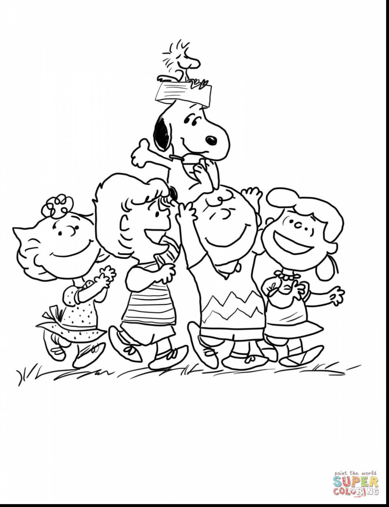 Charlie Brown Christmas Coloring Pages At Getcolorings