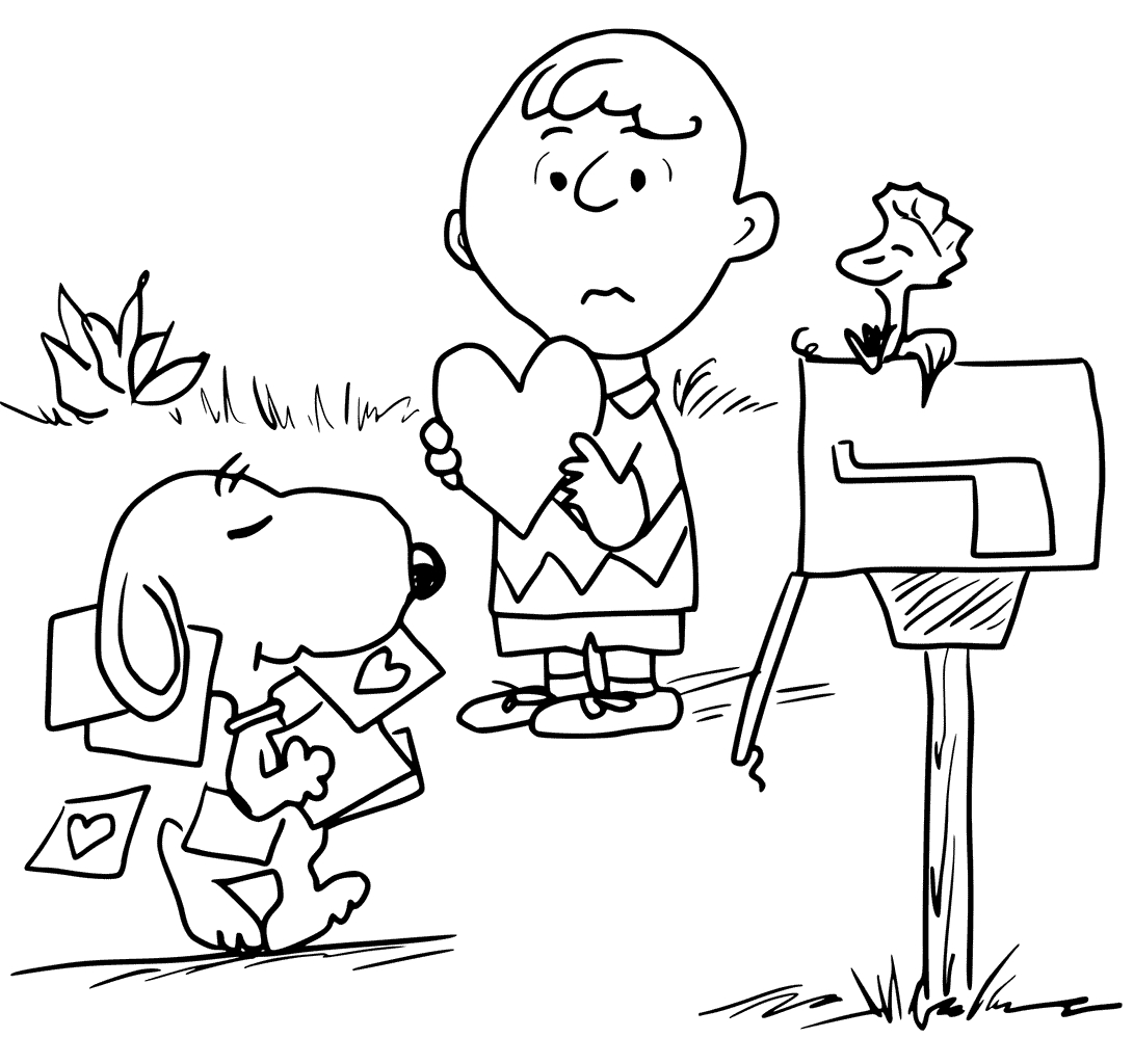 Charlie Brown Valentine Coloring Pages At Getcolorings