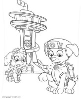 Chase Paw Patrol Coloring Pages at GetColorings.com   Free ...