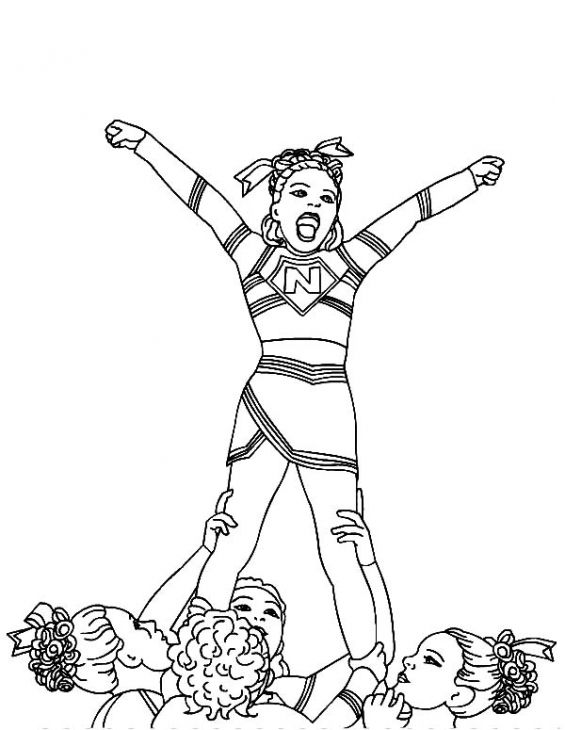 Cheerleading Stunt Coloring Pages at GetColorings.com