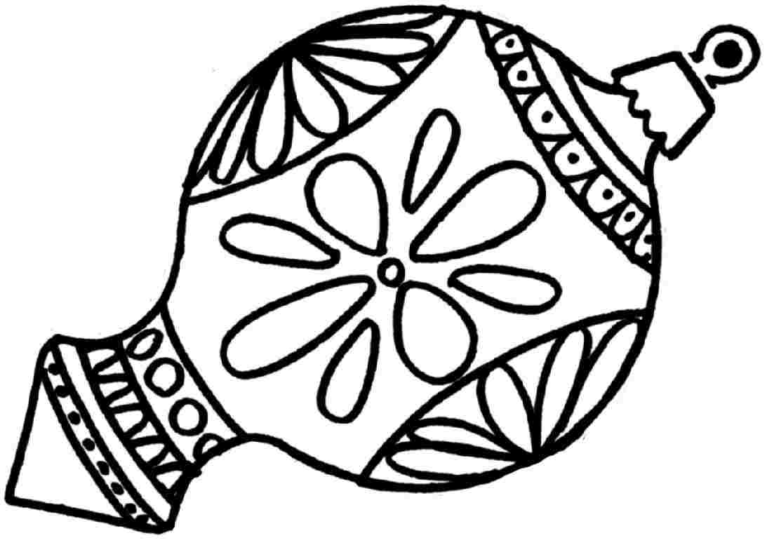 Christmas Ball Ornaments Coloring Pages At Getcolorings