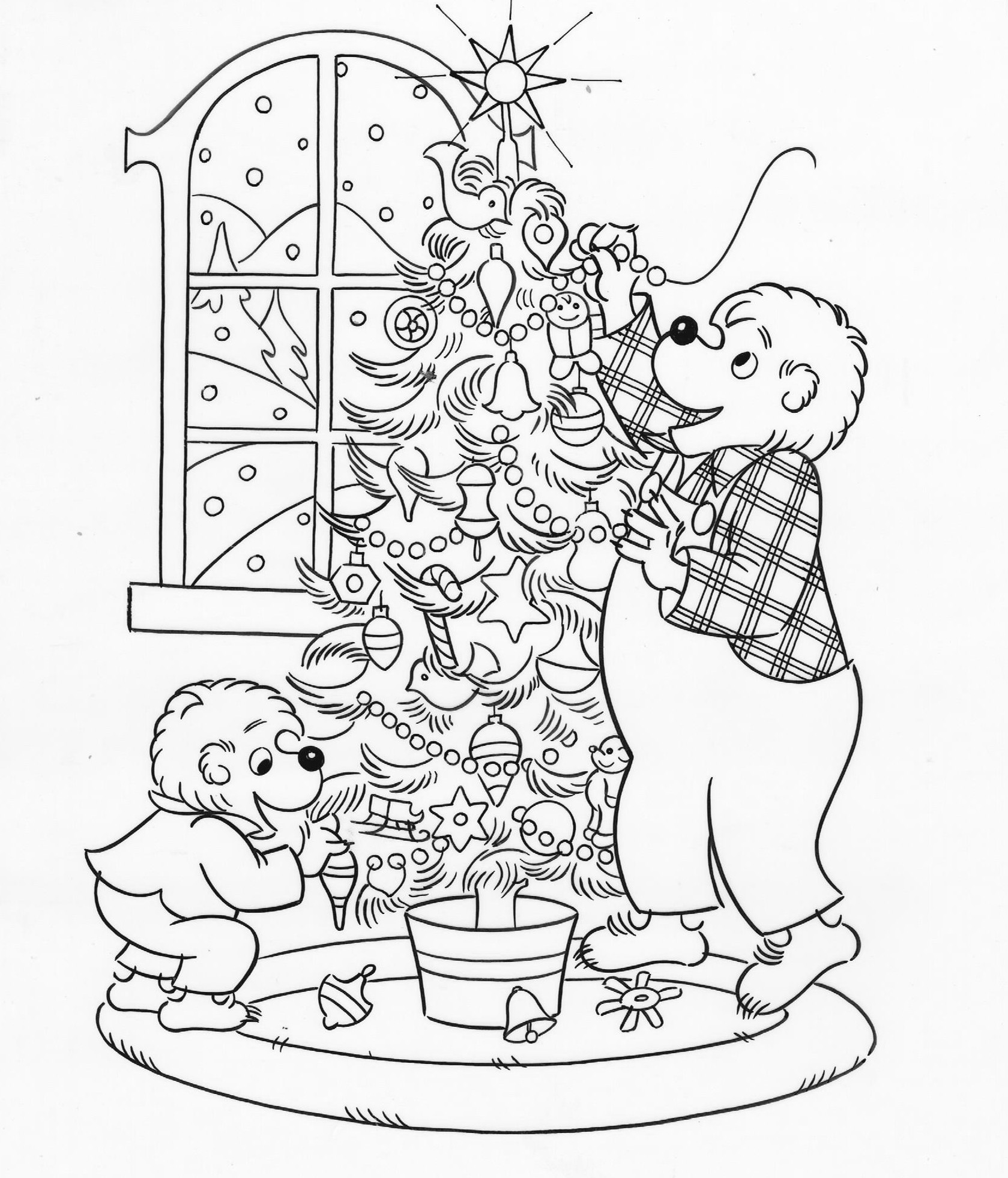 Christmas Bear Coloring Pages At Getcolorings