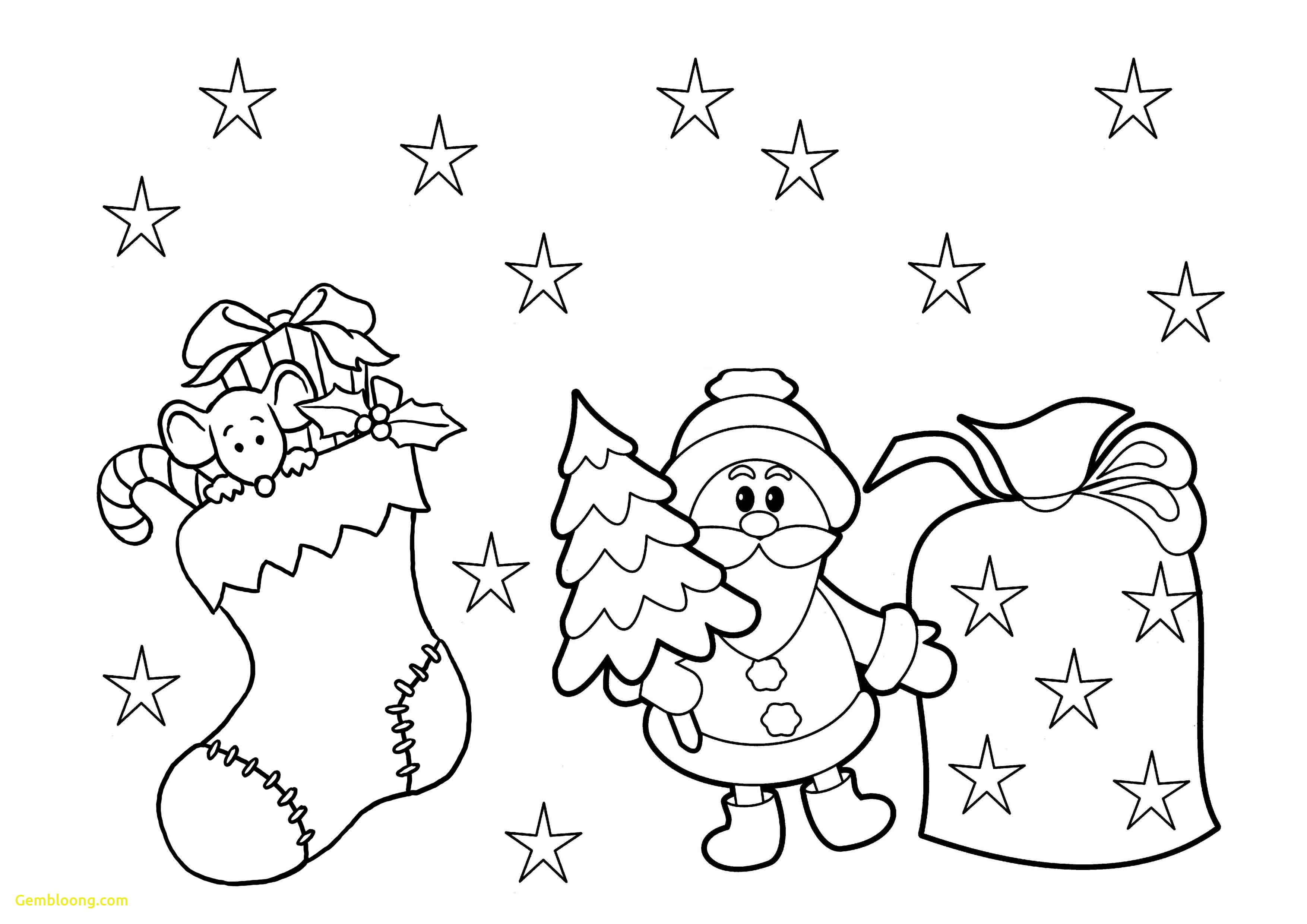 Christmas Coloring Pages For Kindergarten Students At