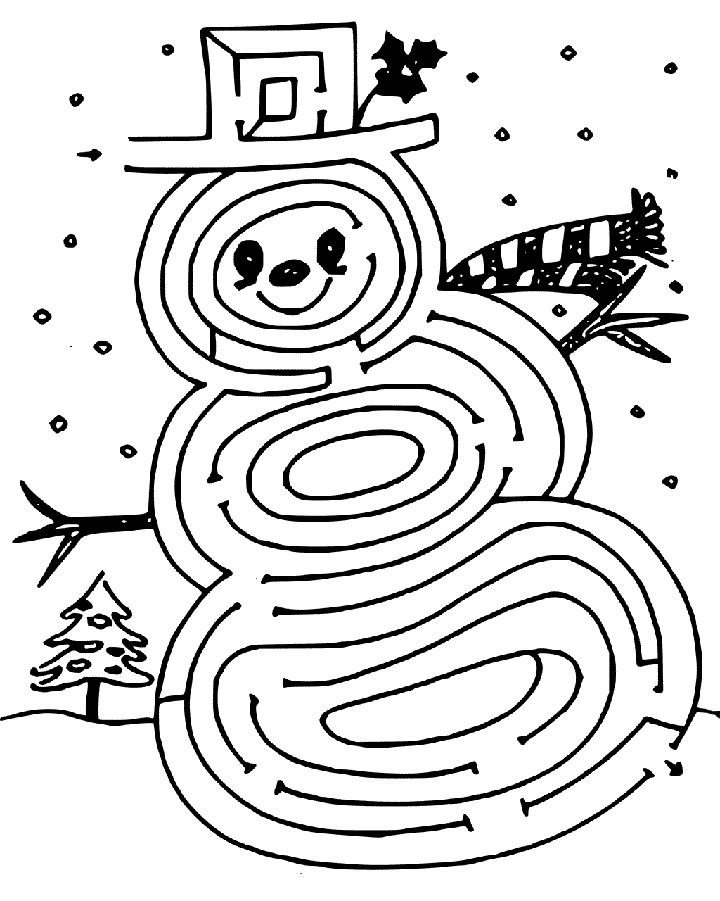 Christmas Maze Coloring Page At Getcolorings