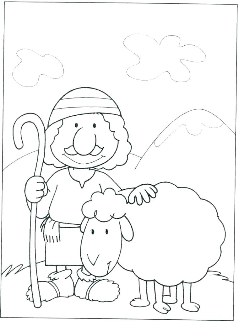 Christmas Shepherd Coloring Page at GetColorings.com