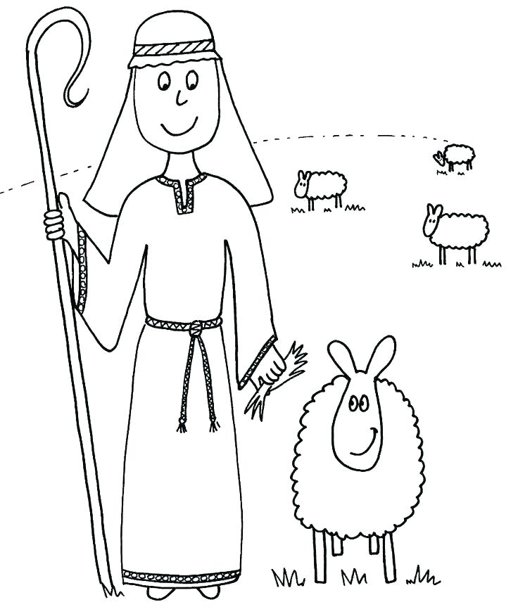 Christmas Shepherd Coloring Pages at GetColorings.com