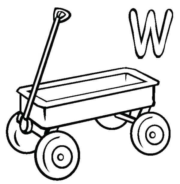 Wagon Coloring Pages Printable Sketch Coloring Page