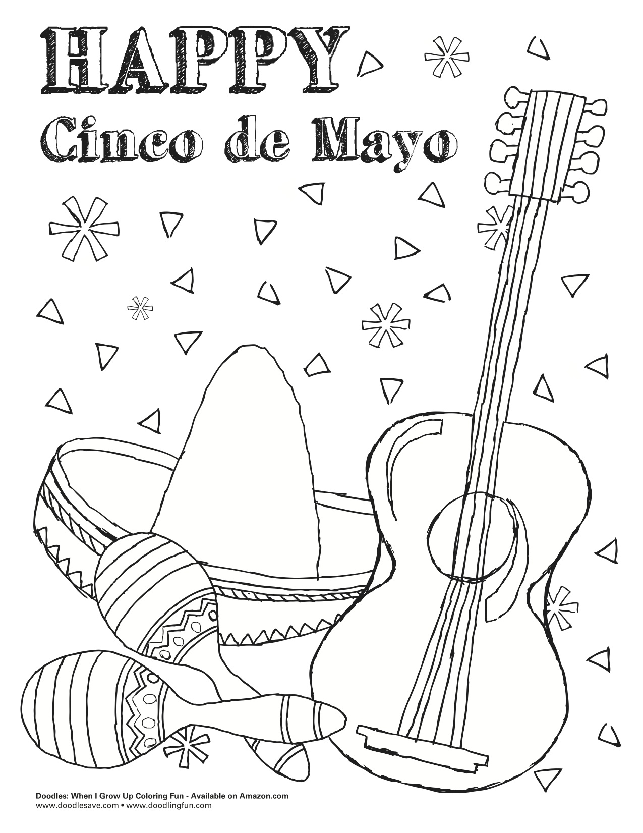 Cinco De Mayo Coloring Pages Free At Getcolorings