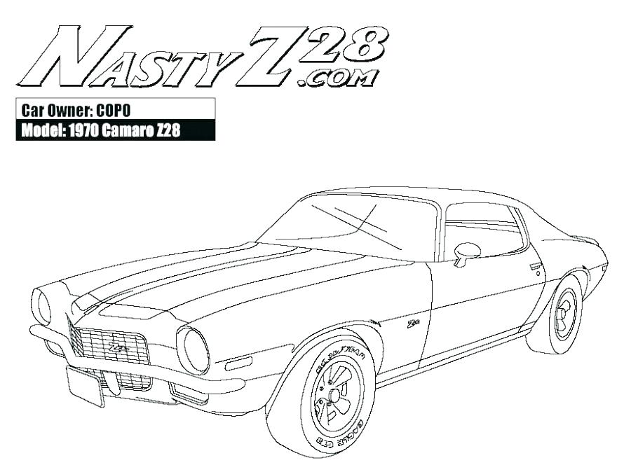 Classic Muscle Car Coloring Pages at GetColorings.com