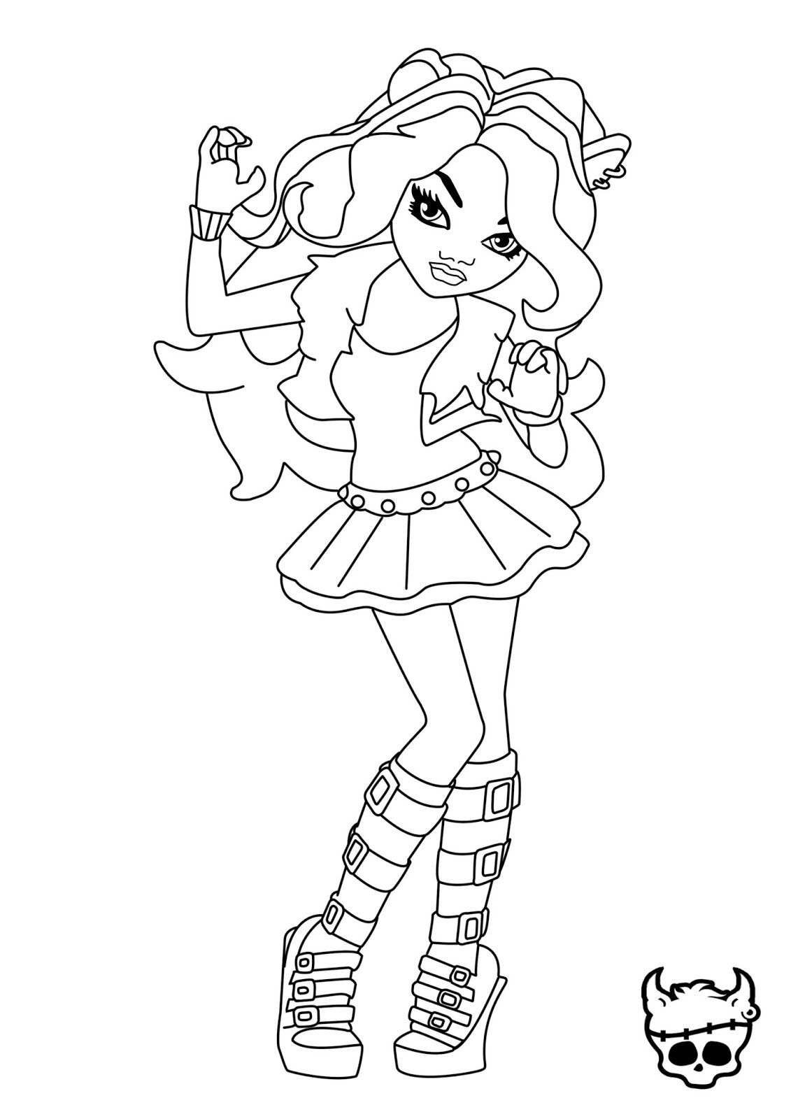 Clawdeen Wolf Coloring Pages At Getcolorings