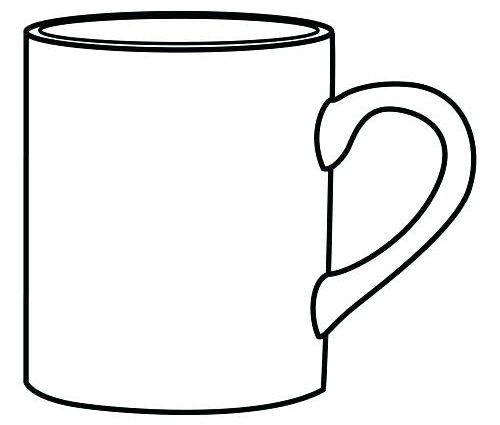 coffee mug coloring page at getcolorings  free