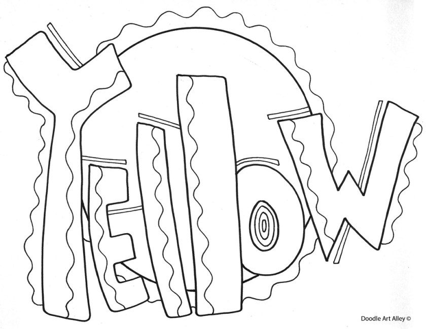 color yellow coloring pages at getcolorings  free