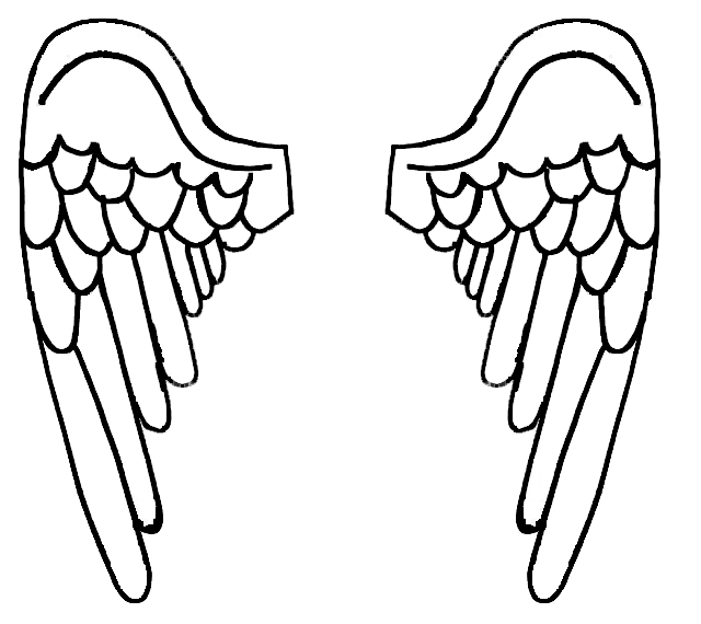 coloring pages angel wings at getcolorings  free
