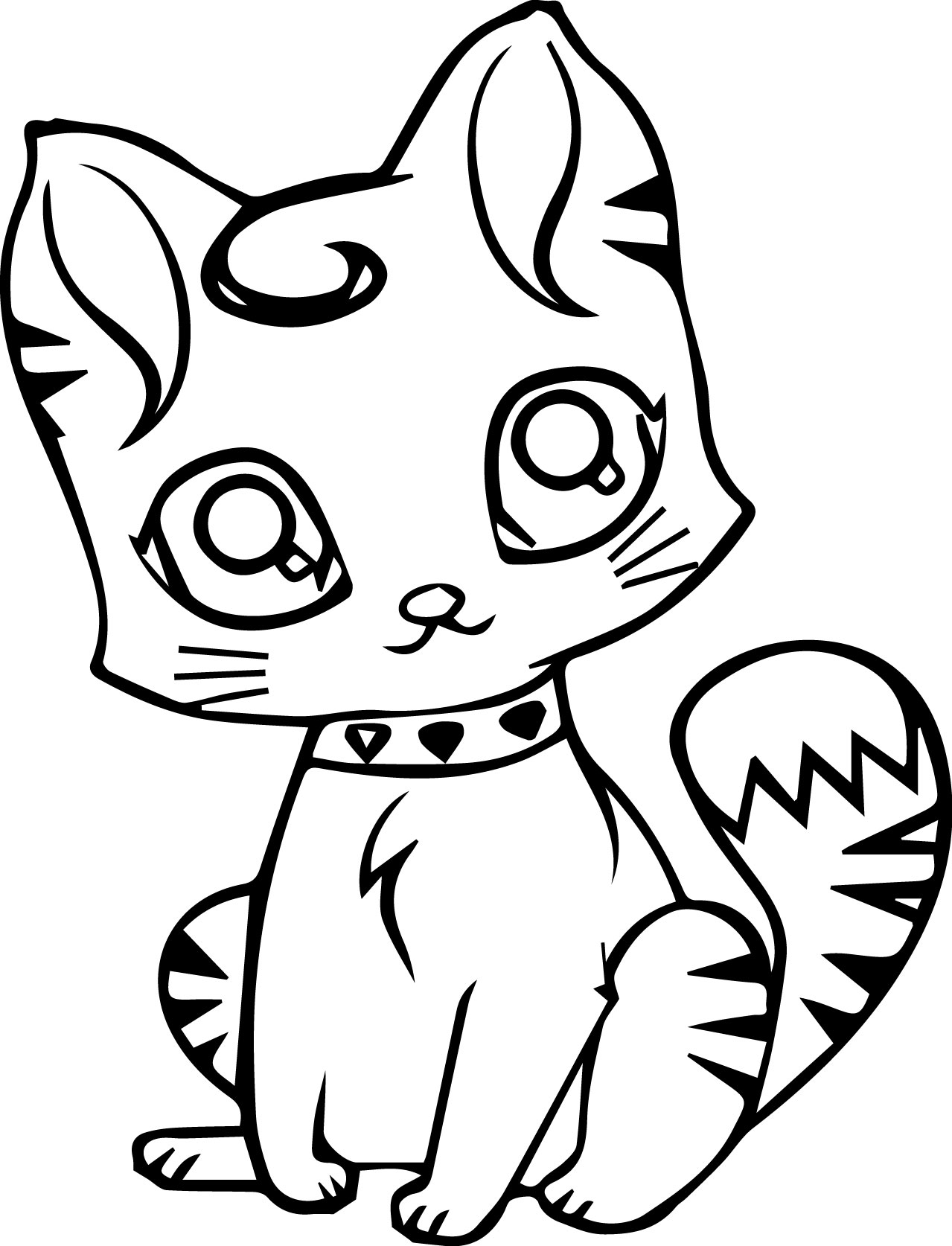 Coloring Pages Cute Cats At Getcolorings