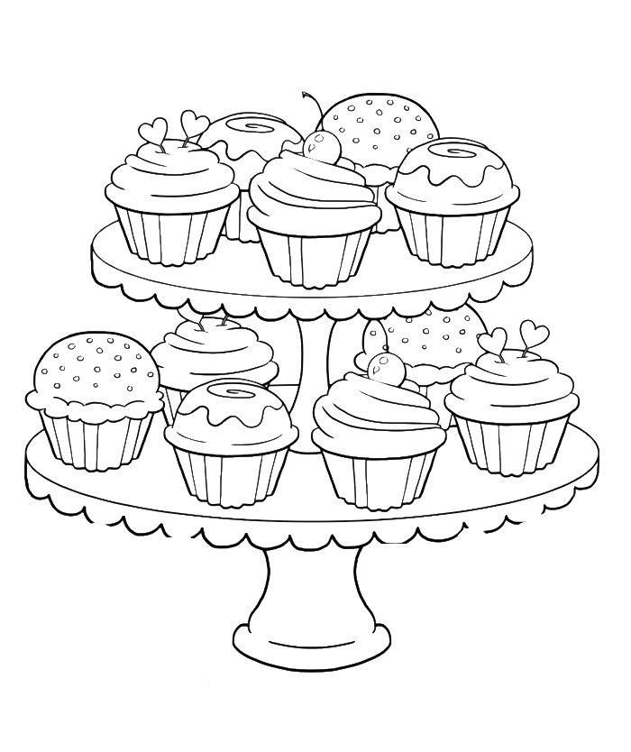 Coloring Pages Of Cupcakes And Cookies at GetColorings.com