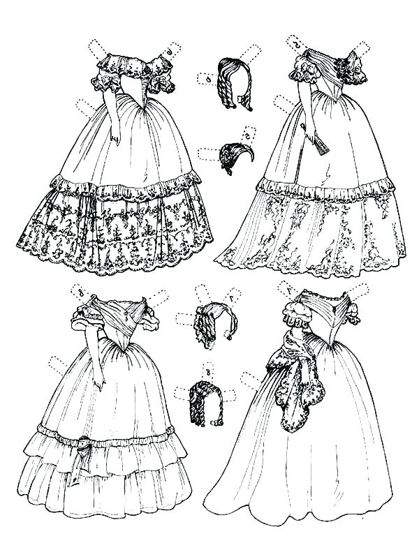 Coloring Pages Of Fashion Dresses at GetColorings.com