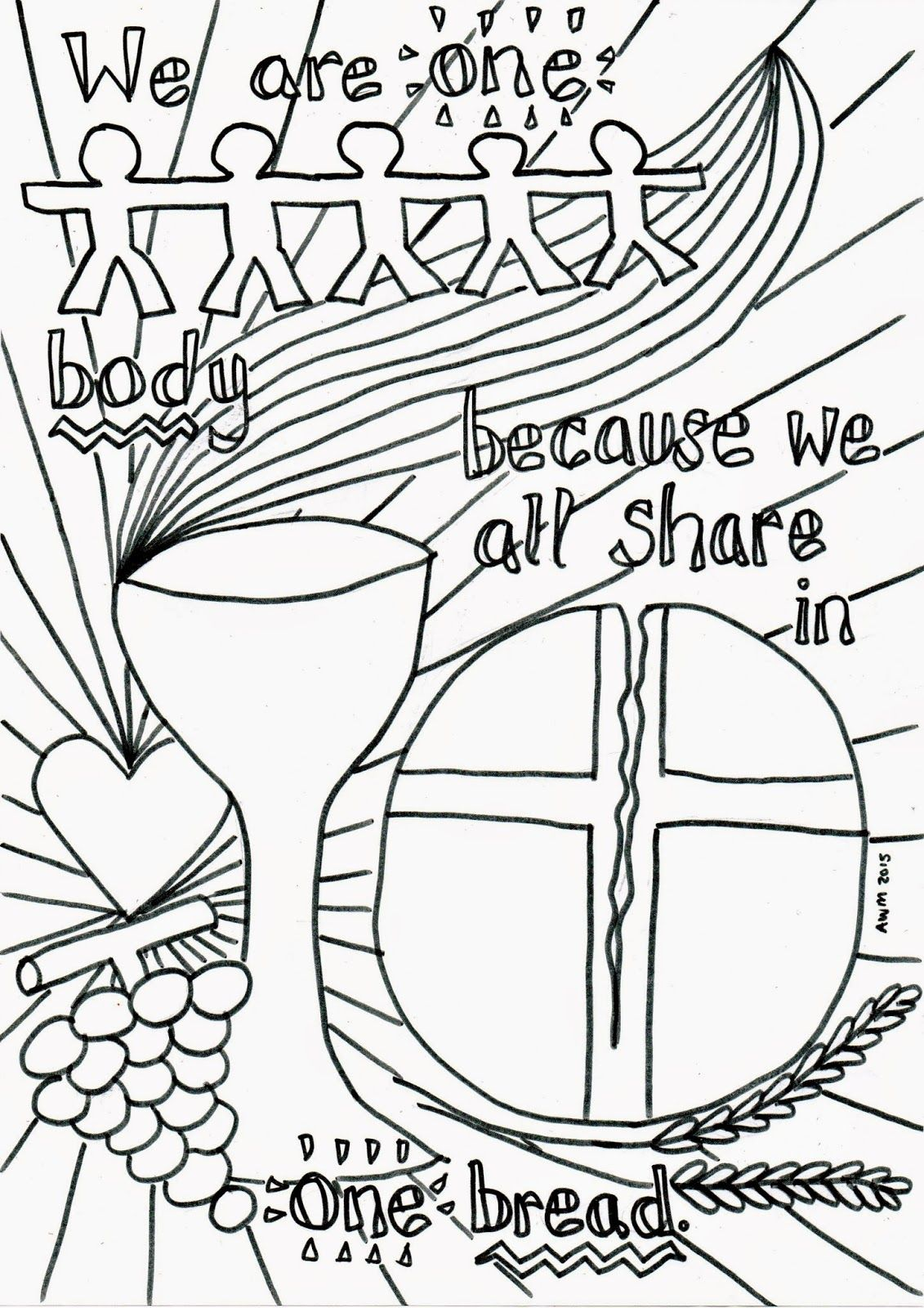 Communion Coloring Pages At Getcolorings