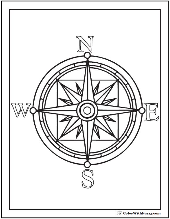 Compass Coloring Online Super Sketch Coloring Page