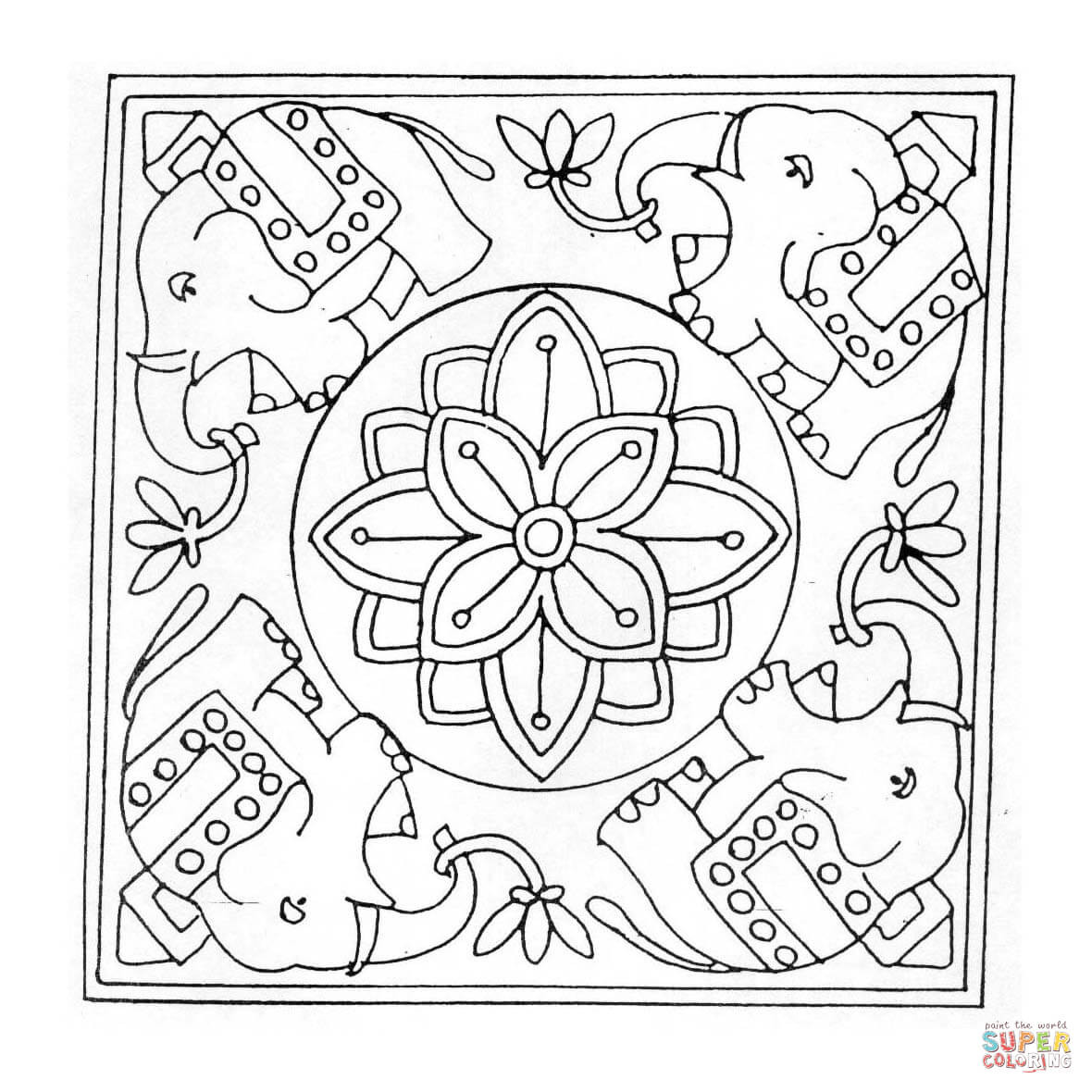 Complex Mandala Coloring Pages Printable At Getcolorings