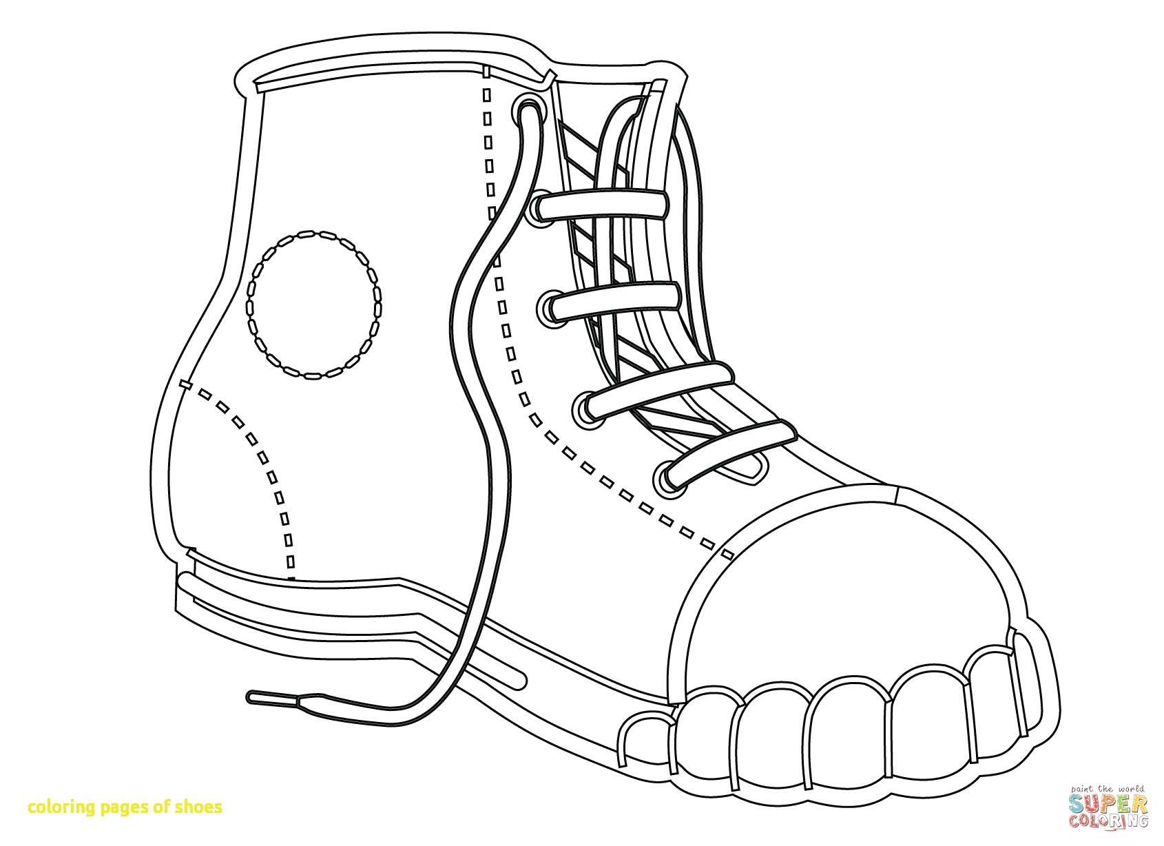 Converse Shoe Coloring Page At Getcolorings