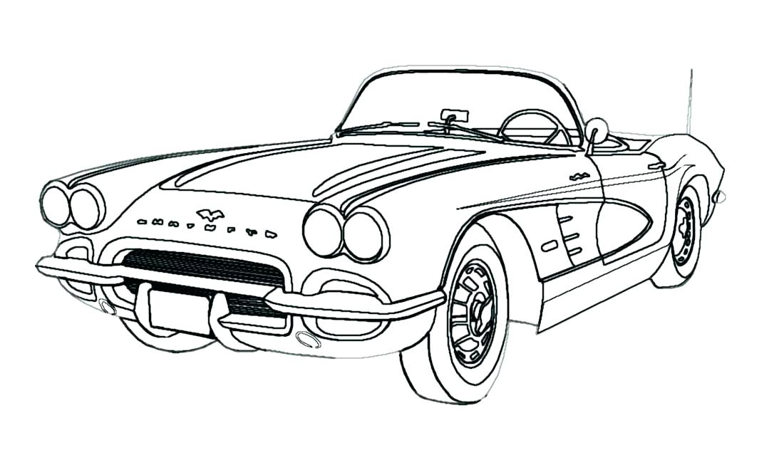 Corvette Stingray Coloring Pages at GetColorings.com