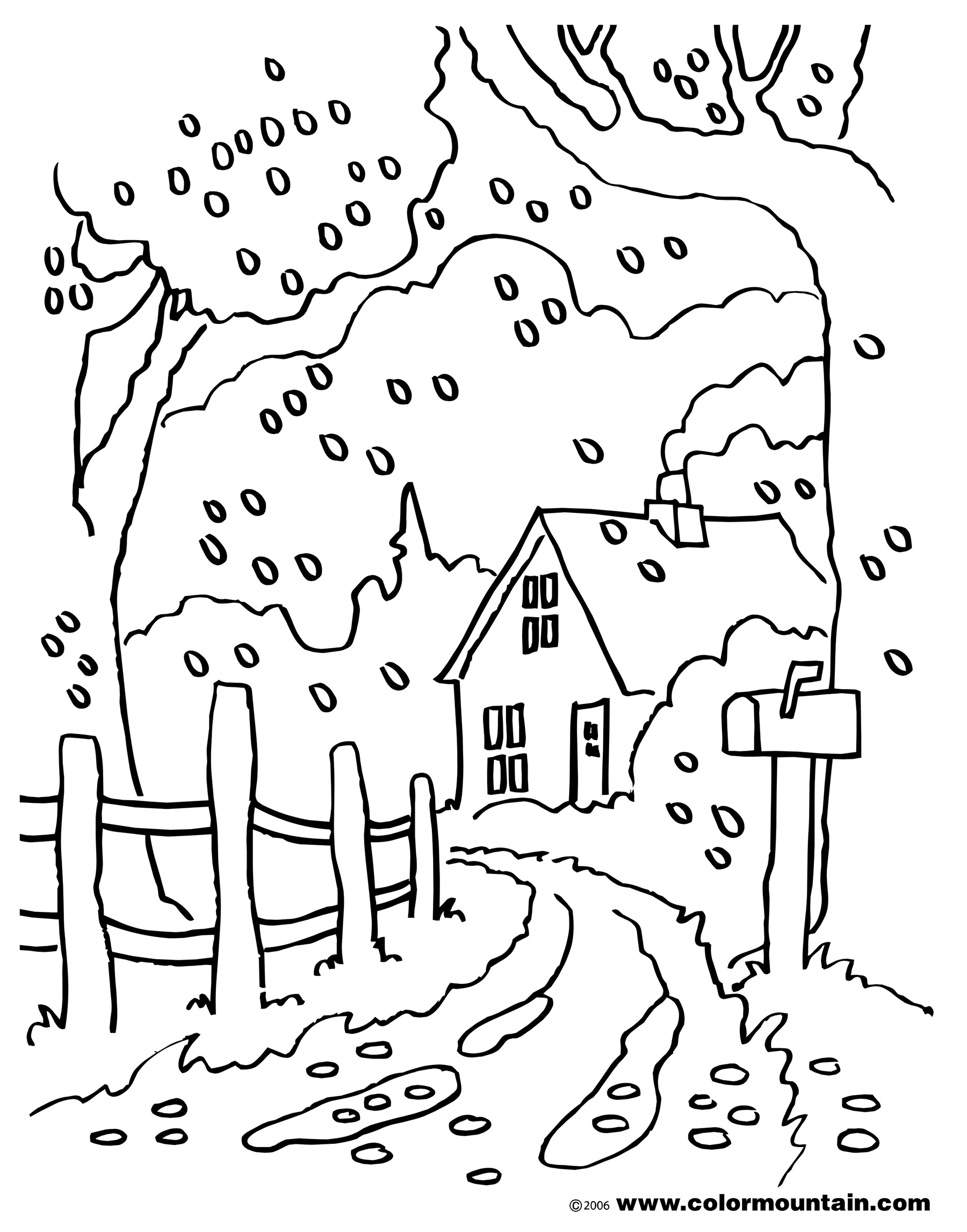 Country Scenes Coloring Pages At Getcolorings