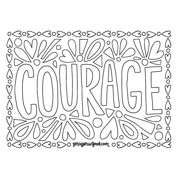 Courage Coloring Page at GetColorings.com | Free printable ... | printable courage quotes coloring pages