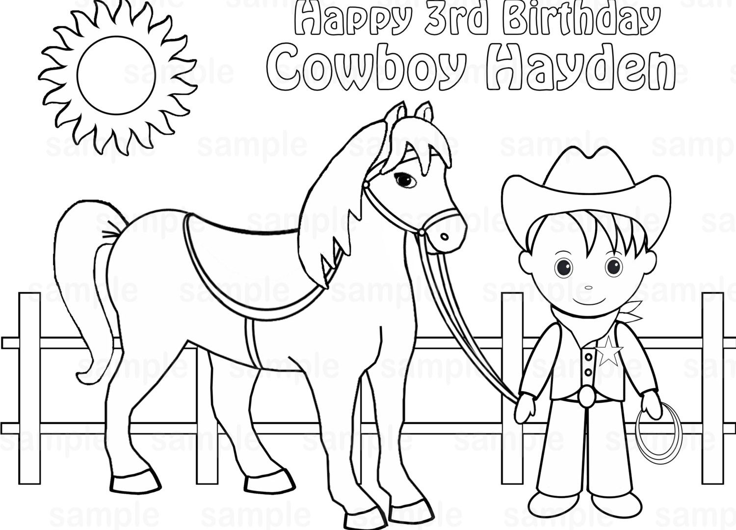 Cowgirl And Cowboy Coloring Pages At Getcolorings